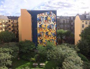 Mural - Gavludsmykning, Turegården København